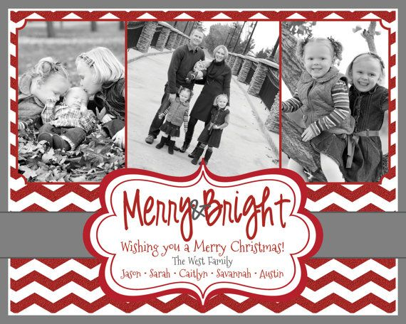 Photo Christmas Card  Multiple Designs  Digital by MouwDesigns