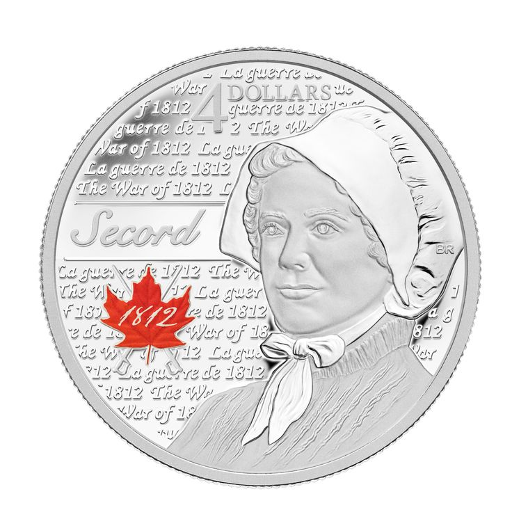 Fine Silver Coin - Heroes of 1812 - Laura Secord: Mintage: 10000 (2013)