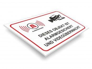 Achtung Videoüberwachung Schild Achtung videoüberwacht