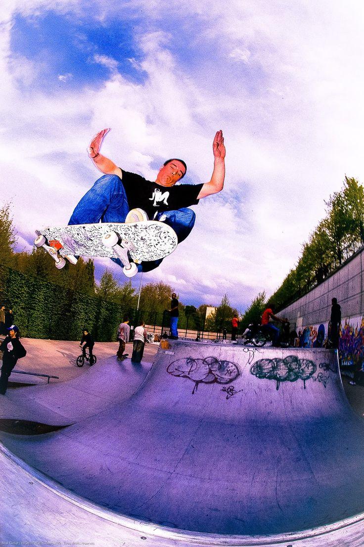 "#artofskateboarding  ""High in the air (...)"".  Featuring : Nicolas Morel, 'World of Leust / World of L(e)ust' team rider - 2004"
