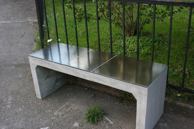 mirror concrete bench design