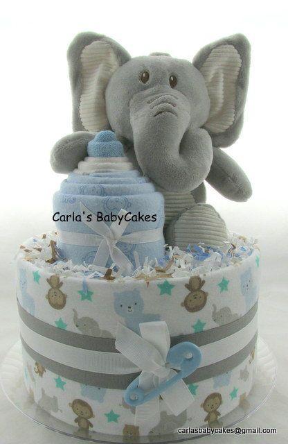 Best 25 elephant diaper cakes ideas on pinterest girl for Baby diaper cake decoration