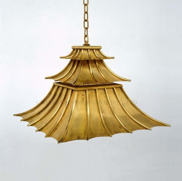 Pagoda pendant lantern chinoiserie lighting via charles edwards