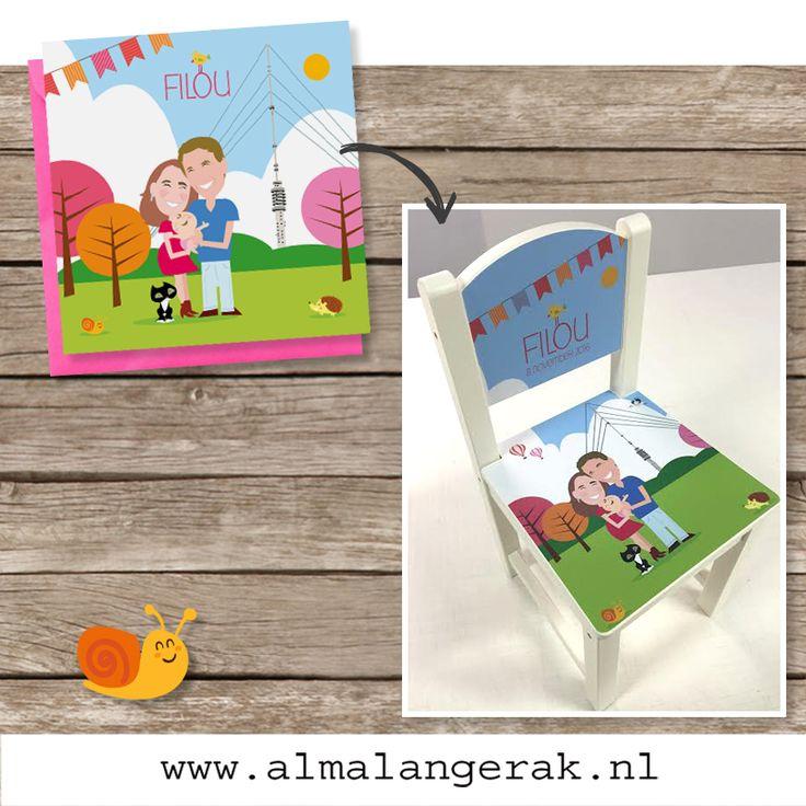 Filou en haar ouders wonen in IJsselstein, dus de zendmast van Lopik / IJsselstein mocht op deze geboortekaarten niet ontbreken.  Naast een #geboortekaart mocht ik ook nog een aantal extra's maken, zoals dit gave #kinderstoeltje #adresetiketten en een #geboortebord .   Cinthia en Stijn als jullie dit lezen, veel geluk met zijn drieën.   #geboortekaartjes #kinderstoel #kinderstoeltje #kinderkamer #ijsselstein #zendmast #gerbrandytoren #lopik #herfst