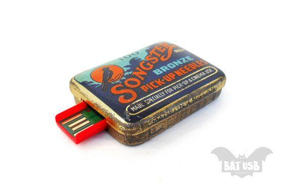 Retro flash drive USB 16/32/64GB Songster Bronze rare by BatLab