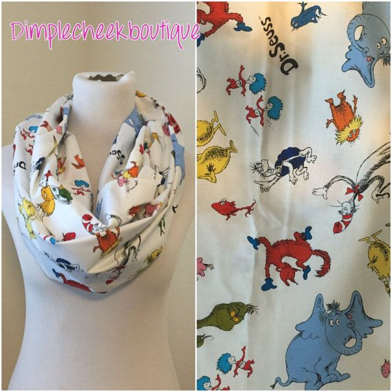 Dr. Seuss scarf available in regular and by DimpleCheekBoutique