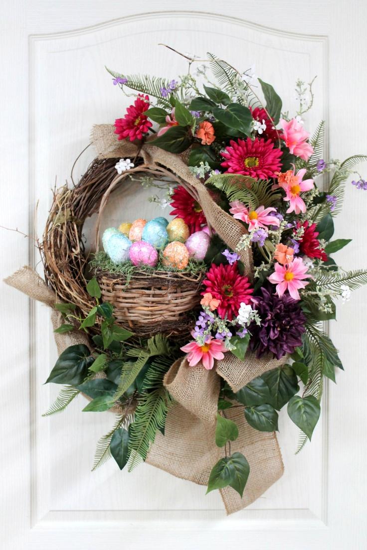 Easter Country Front Door Wreath Wreaths Pinterest