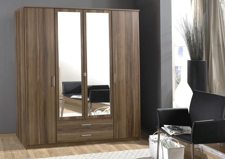 Milan 4 Door and 2 Drawer Combi Wardrobe