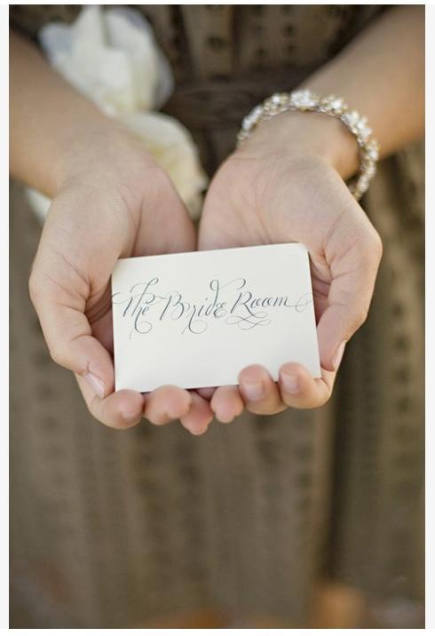 calligraphied namecard