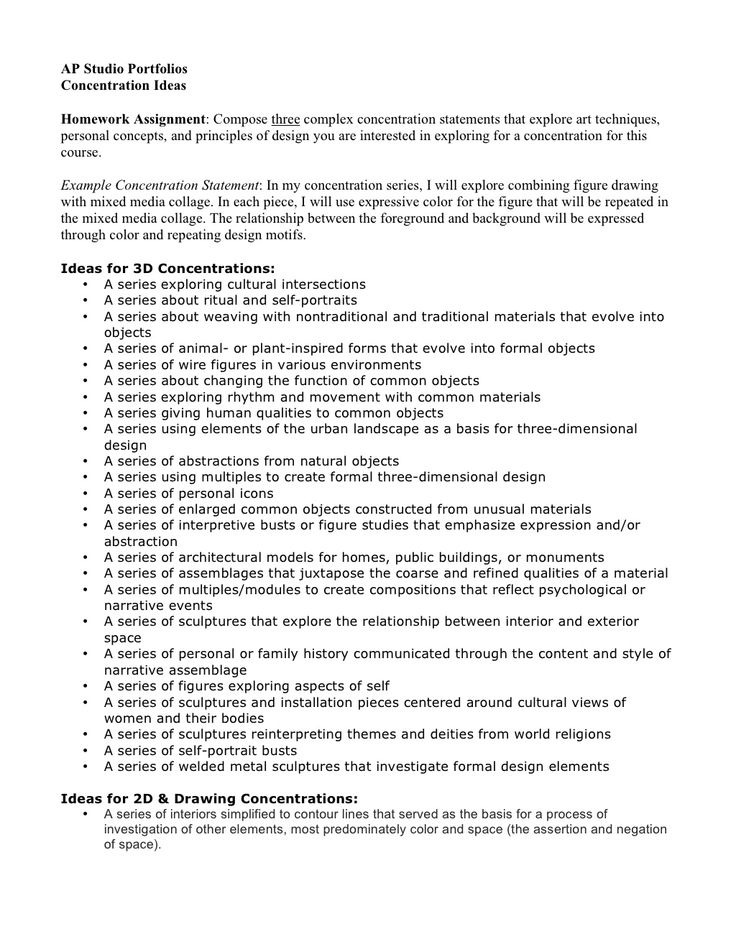 10 concentration ideas all portfolios. Resume Example. Resume CV Cover Letter