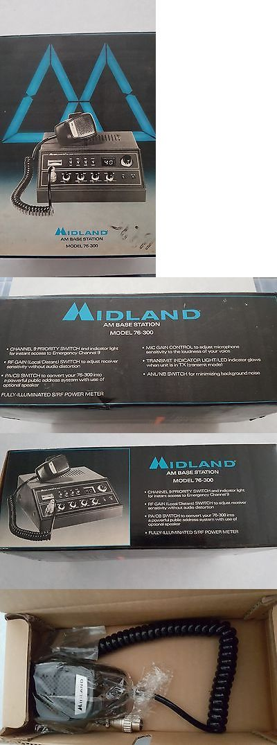 Ham Radio Receivers: (New Old Stock) -Midland -76-300 Citizens Band Base Station BUY IT NOW ONLY: $300.0
