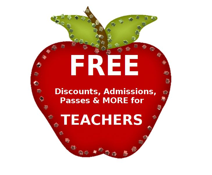 HUGE list of FREE Admissions, passes, and discounts for #teachers, #homeschoolers, and #students