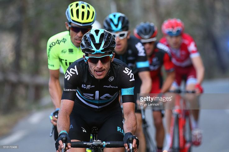 Sergio Henao of Colombia and Team SKY in action on stage 6 of the 2016 Paris-Nice, a 177km stage from Nice to La Madone d'Utelle on March 12, 2016 on the La Madone d'Utelle, France.  #ParisNice #rm_112