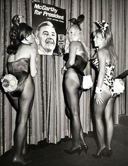 crfashionbook:  Playboy playmates at a McCarthy fundraising...