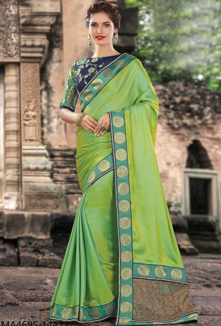 Green Two Tone Silk Designer Saree #green #Trendy #onlinesari #sari #saree #WomenClothing #WomenWear #Designersari #stylishsari #nikvik #usa #designer #australia #canada #malaysia #UAE #freeshipping  Sign up and get USD100 worth vouchers.Price-US$105.33