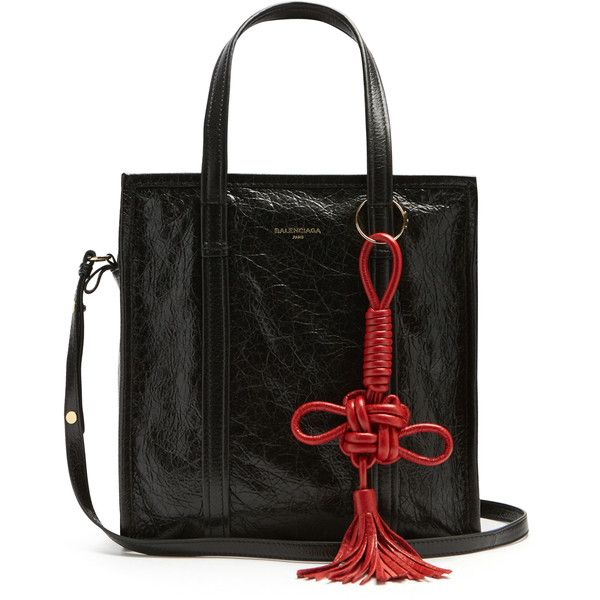 Balenciaga Bazar small grained-leather tote ($1,495) ❤ liked on Polyvore featuring bags, handbags, tote bags, tote purses, balenciaga tote, balenciaga handbags, red purse and red handbags
