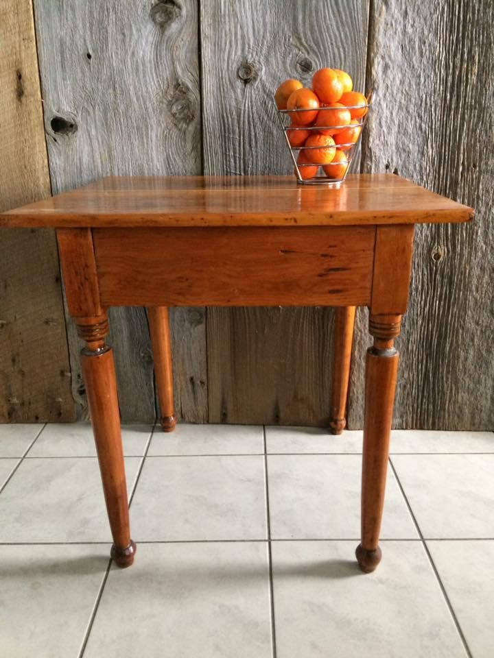 Lovely antique table with drawer.