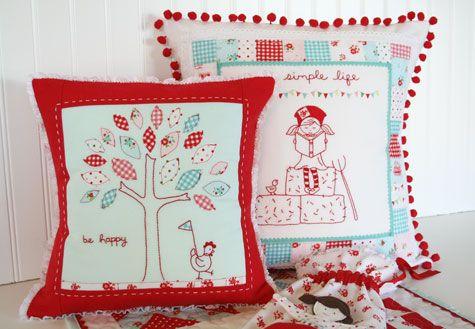 simple life pillows: by tasha!  sooo cute!!: Tashanoel Thesimplelif, Quarter Shops, Shops Jolly, Adorable Pillows, Quilts, The Simple Life, Fat Quarter, Life Pillows, Tasha Noel