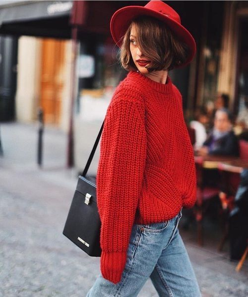 Charm red outfits for street look