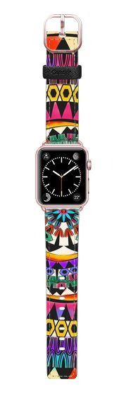 Casetify Apple Watch Band (42mm) Saffiano Leather Watch Band - Colorful Diva by Famenxt