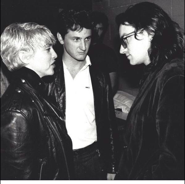 WE ARE ALL FREE CITIZENS! Madonna, Sean Penn and Bono in 1986. Amnesty International!