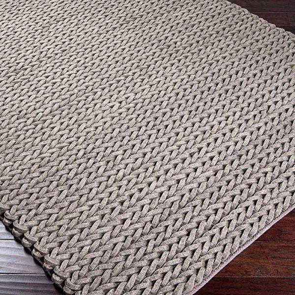 Mushroom knit area rug - Decoist                                                                                                                                                                                 Más