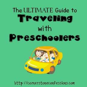 Traveling with Preschoolers. Good list of things to bring, do, and remember when traveling with kids