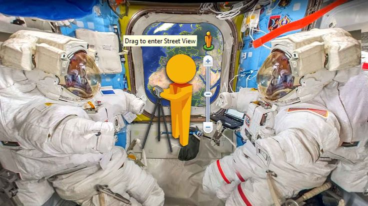Drag to enter street view ISS Space Station
