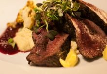 Herb Rubbed Venison Loin with...