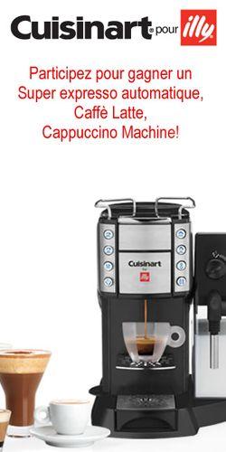 Gagnez une cafetière expresso Cuisinart. Fin le 1er avril.  http://rienquedugratuit.ca/concours/cafetiere-expresso-cuisinart/