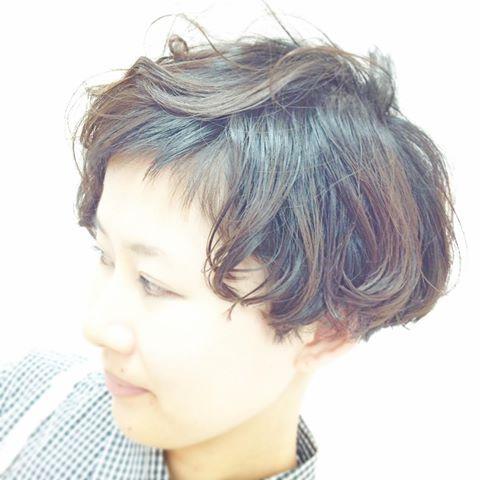 #ボブ#ショートボブ#ショートバング#ショート#キュート#パーマ#刈り上げボブ#刈りボブ#お任せ#ヘアカタ#髪型#サロンワーク#short#shortbob#cutemode#salonwork #perm#cut#hair#haircut #shorthair #japanese #japan  #つくば #つくば美容室 #ブルーパフェ