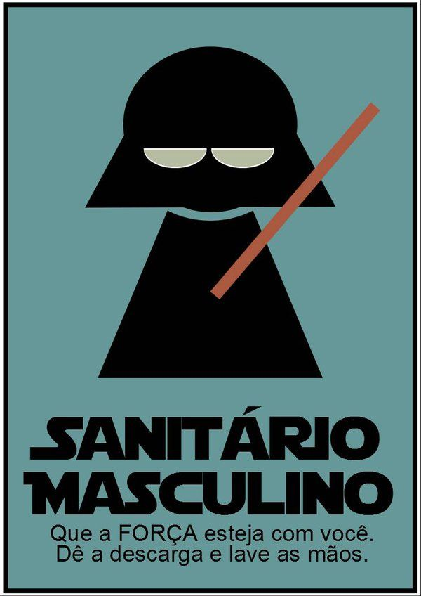 Sanitario Masculino Star Wars by ElitonZ