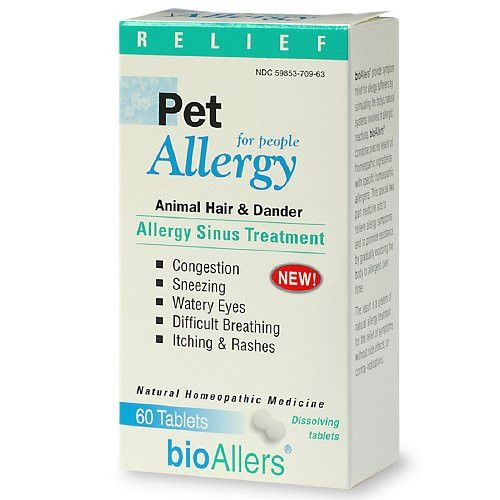 bioAllers Pet Allergy Sinus Treatment For People, Dissolving Tablets