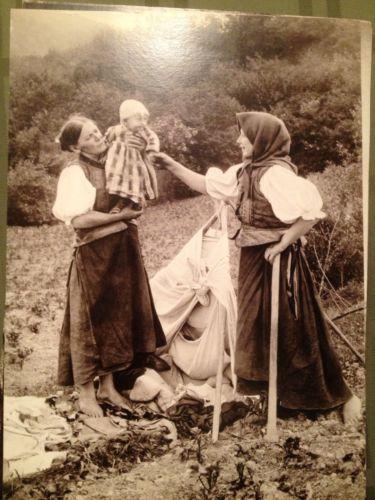 "Pavel Sochan 9x13 Black & White Photograph Slovakia ""Near A Field Cradle"""