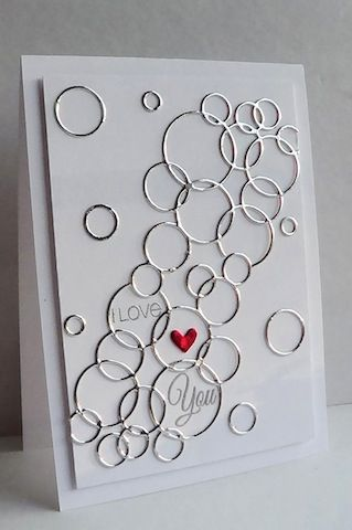 Awesome die for wedding rings, bubbles, background masking, shading in bubbles, so many ideas come to mind.