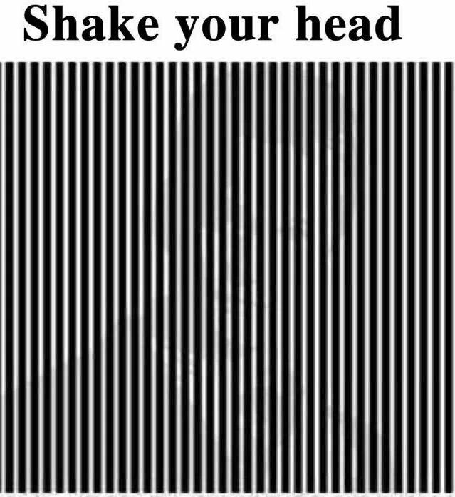 Optical illusion.  You could also just squint really hard -- is it Barney Stinson??!! Anyone??