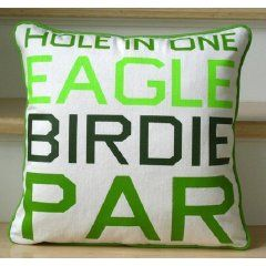 Etsy - Golf Pillow - Scores by bumblebellydesigns