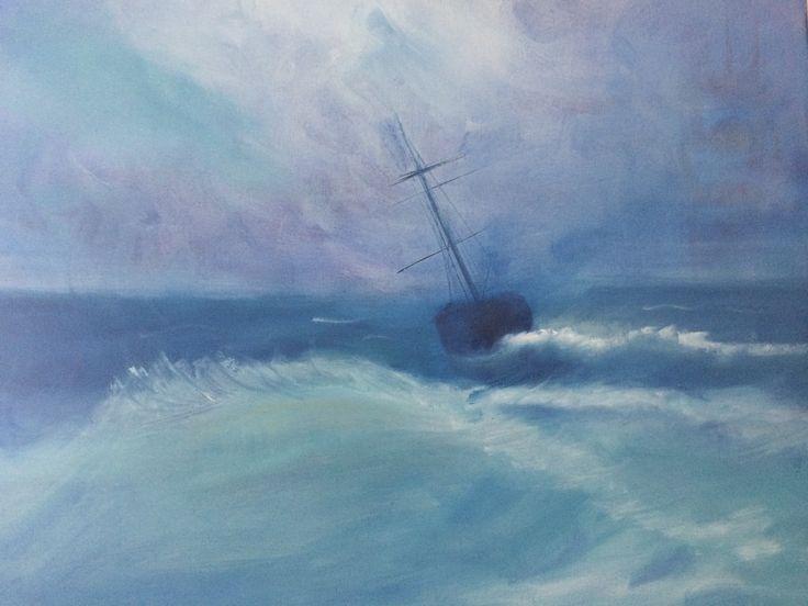 Sea, Oil on canvas, 50 x 50