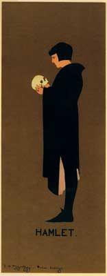 """Hamlet"" - plakatstil poster by Sir William Nicholson & James Pryde"