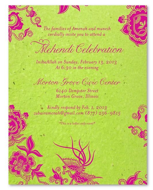 Mehndi Ceremony Quotes On Cards : Mehndi ceremony cards holi mehendi and