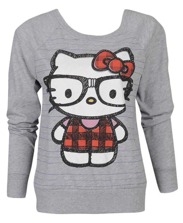Nerd Hello Kitty Pullover