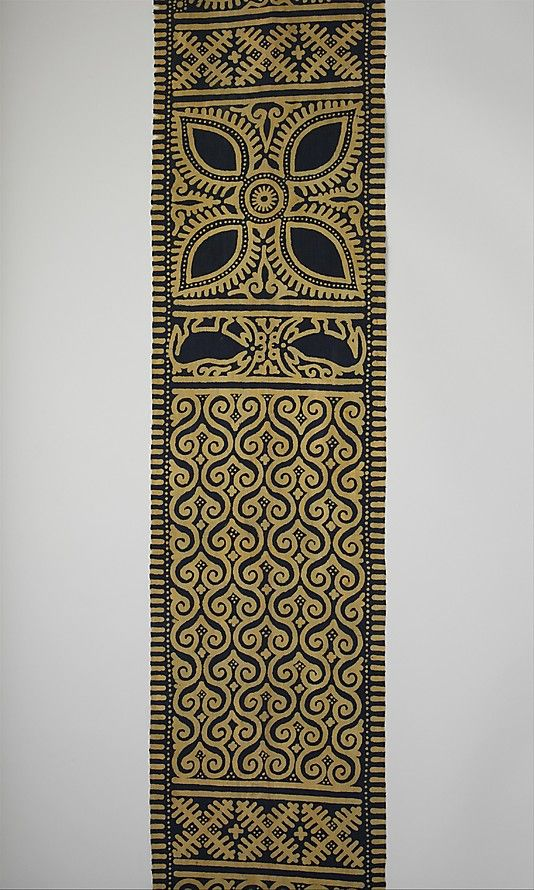 (Sarita) Date: 19th–early 20th century Geography: Indonesia, Sulawesi Culture: Toraja Medium: Cotton Dimensions: L. 192 x W. 10 1/4 in. (487.7 x 26 cm) Classification: Textiles-Woven