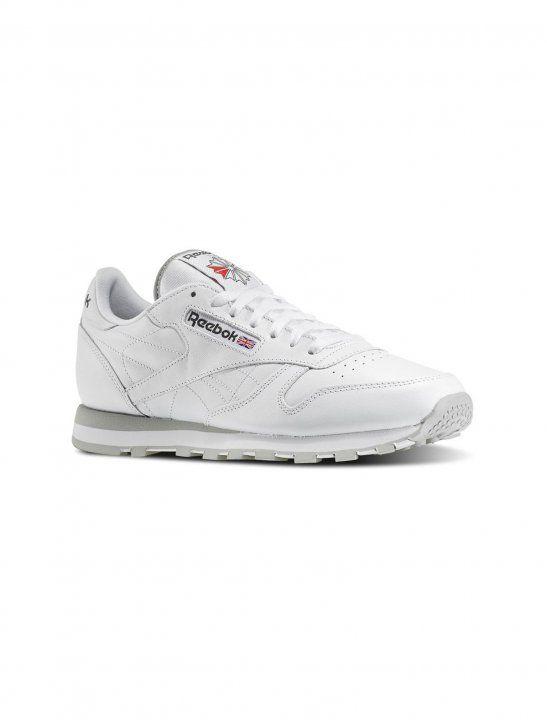 b60e6b5a16c384 Classic White Leather Trainers - G-Eazy
