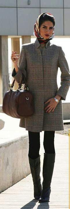 Chic stylish iranian streetstyle