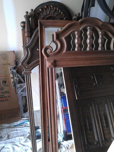 What To Put On Fireplace Mantel Repurposing Old Dresser Mirrors Re-tiqued By Rae Bond