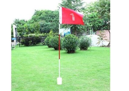 Hole In One Golf - Home - Backyard Flagstick Pole & Cup. 3sec./180 cms
