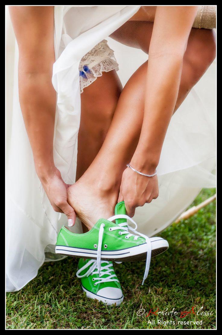 È la puntava i scarp de tenis...