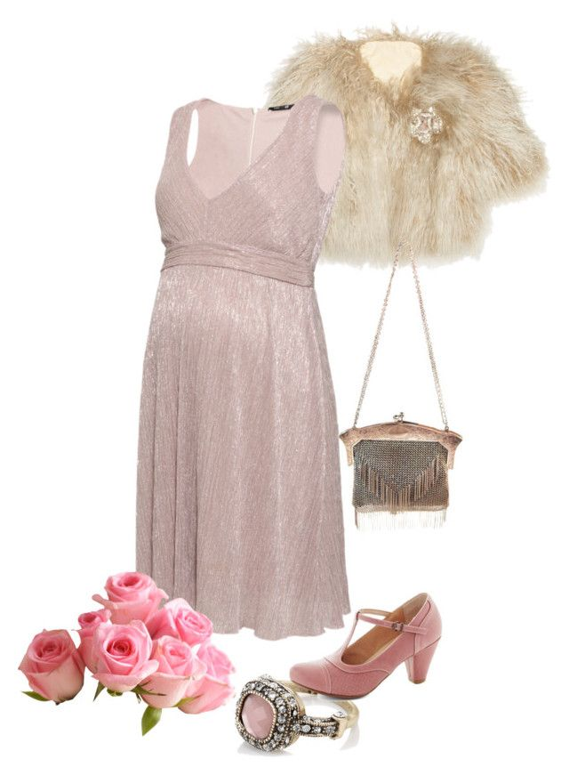 Maternity dress 1920's outfit by asenat1970 on Polyvore featuring moda, Lanvin, H&M, Chelsea Crew and Accessorize