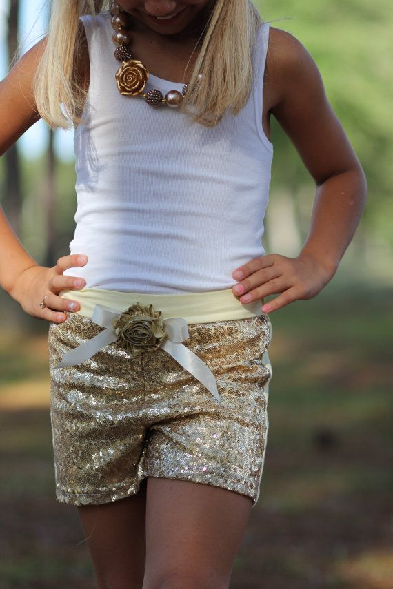 Hey, I found this really awesome Etsy listing at https://www.etsy.com/listing/235433916/gold-sequin-shorts-with-gold-flower