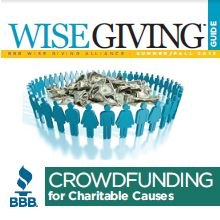 BBB Wise Giving Alliance  From the Better Business Bureau Wise Giving Alliance, this site helps donors make informed giving decisions through charity evaluations.